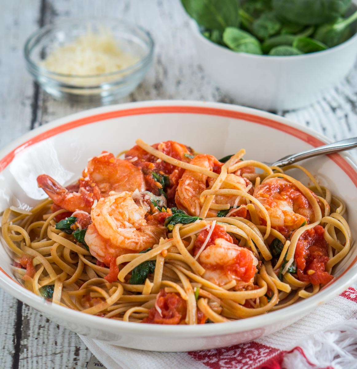 Healthy Shrimp Fettuccine Recipe